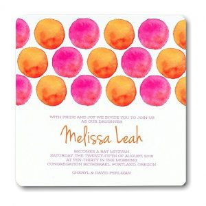 Sweet Bat Mitzvah Invitation