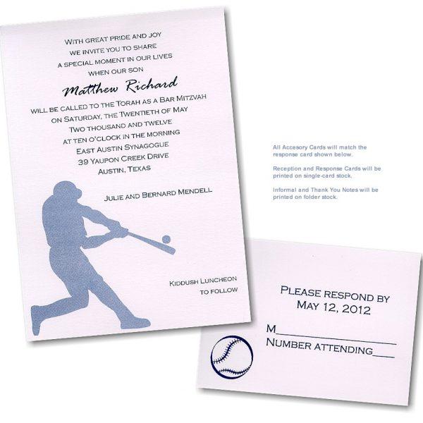Batter Up Bar Mitzvah Invitation