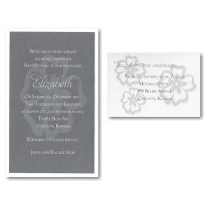 Elizabeth Layered Bat Mitzvah Invitation Layered