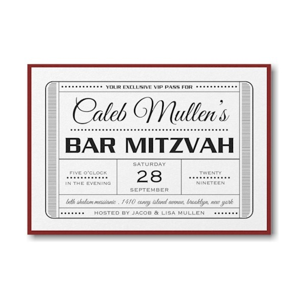Exclusive VIP Pass Layered Bar Mitzvah Invitation