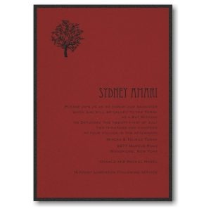 Designer Mitzvah Layered Bar Mitzvah Invitation