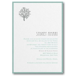 Designer Mitzvah Layered Bat Mitzvah Invitation