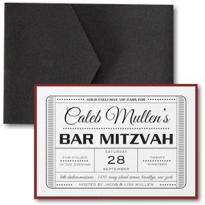 Exclusive VIP Pass Pocket Bar Mitzvah Invitation