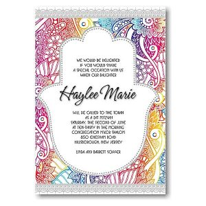 Hamsa Bat Mitzvah Invitation