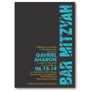 Mitzvah Lines Bar Mitzvah Invitation