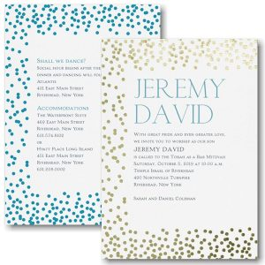 "Mitzvah Pattern ""Dots"" Bat Mitzvah Invitation"