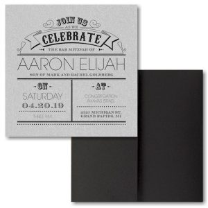 Poster Proclamation Pocket Bar Mitzvah Invitation Sample