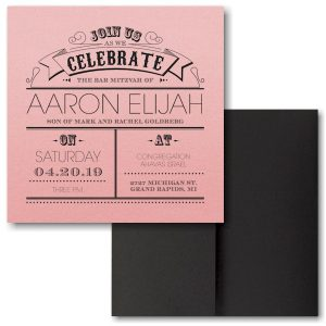 Poster Proclamation Pocket Bat Mitzvah Invitation