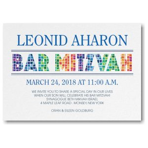 Prism Mosaic Bar Mitzvah Invitation