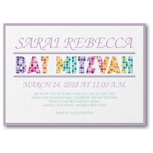 Prism Mosaic Layered Bat Mitzvah Invitation
