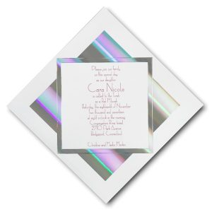 Prisms Bat Mitzvah Invitation