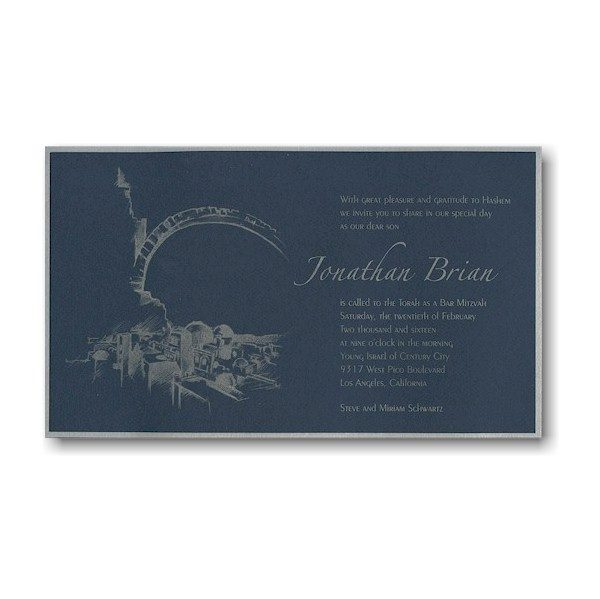 Sacred Land Bar Mitzvah Invitation