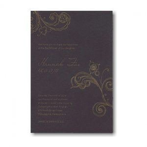 Shimmer Bat Mitzvah Invitation Sample