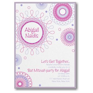 Spiral Spectacular Layered Bat Mitzvah Invitation