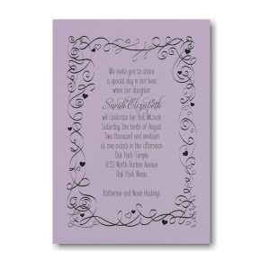Turn of Tradition Bat Mitzvah Invitation Sample