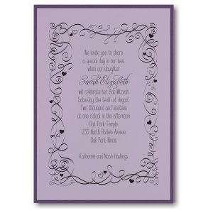 Turn of Tradition Layered Bat Mitzvah Invitation Sample