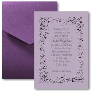 Turn of Tradition Pocket Bat Mitzvah Invitation Sample
