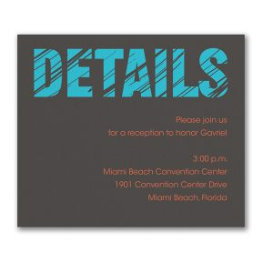 Mitzvah Lines Reception Card