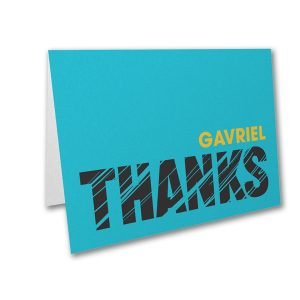 Mitzvah Lines Thank You Note