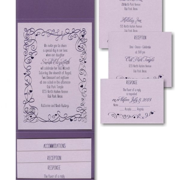 Turn of Tradition Pocket Bat Mitzvah Invitation