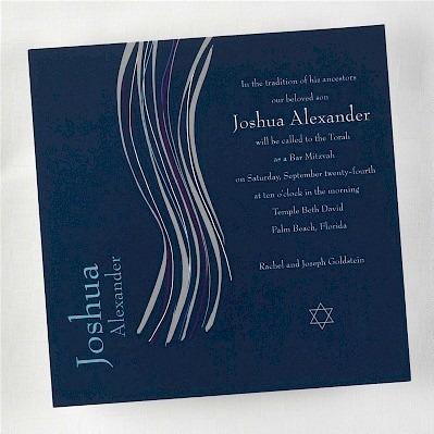 Tzitzit Bar Mitzvah Invitation