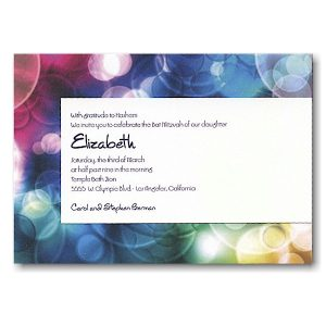 Effervescence Bat Mitzvah Invitation