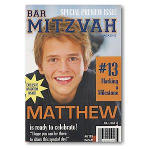 My Mitzvah Magazine Bar Mitzvah Invitation