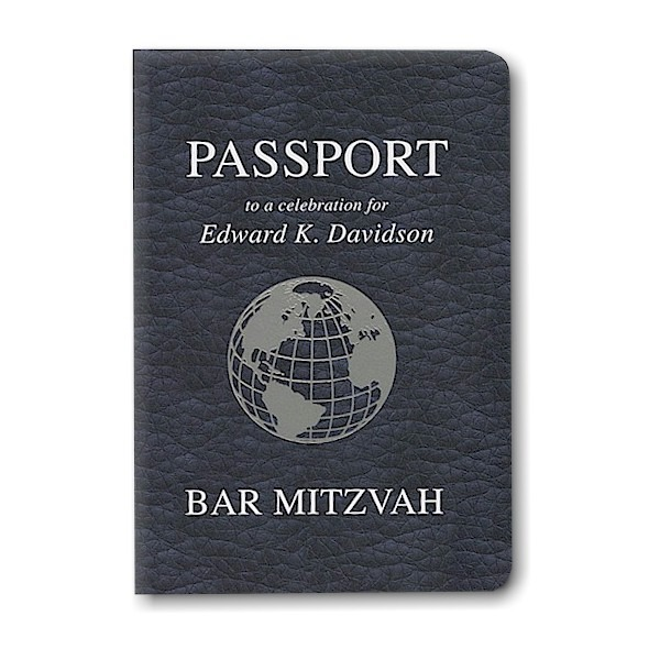 Passport Bar Mitzvah Invitation