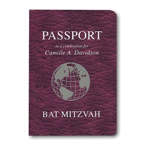 Passport Bat Mitzvah Invitation