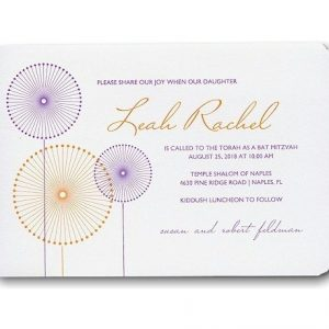 Pinwheels Bat Mitzvah Invitation