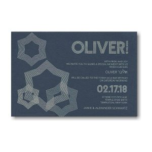 Ripple Effect Bar Mitzvah Invitation