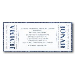Side by Side B'not Mitzvah Invitation Sample