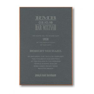 Tweed Bar Mitzvah Invitation