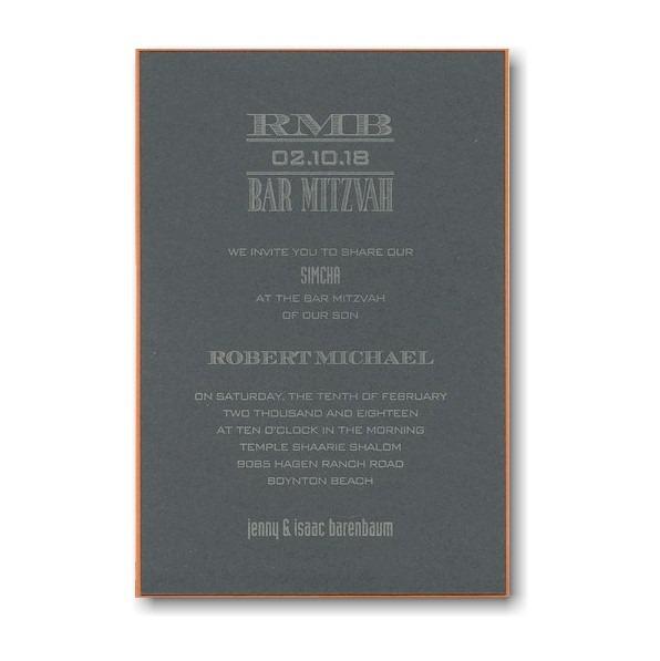 Tweed Bar Mitzvah Invitation
