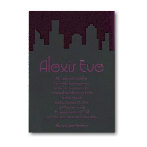 Urban Shine Bat Mitzvah Invitation