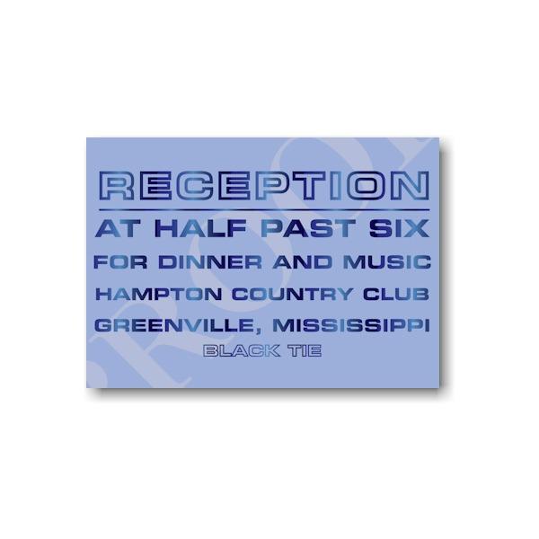With Gratitude Reception Card