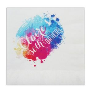 Color Burst Beverage Napkin