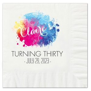 Color Burst Luncheon Napkin