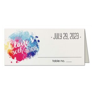 Color Burst Place Card