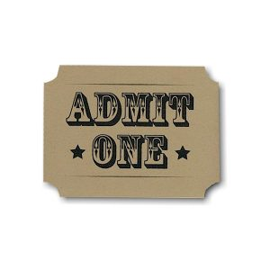 Admit One Kraft Ticket Bar Mitzvah Invitation Sample