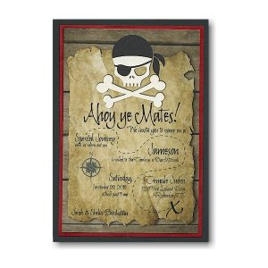 Ahoy Mates Bar Mitzvah Invitation Sample