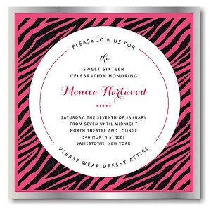 Avante Bat Mitzvah Invitation