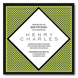 Henderson Bar Mitzvah Invitation