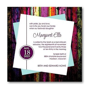 Huxley Bat Mitzvah Invitation