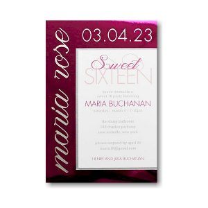 Magnolia Bat Mitzvah Invitation