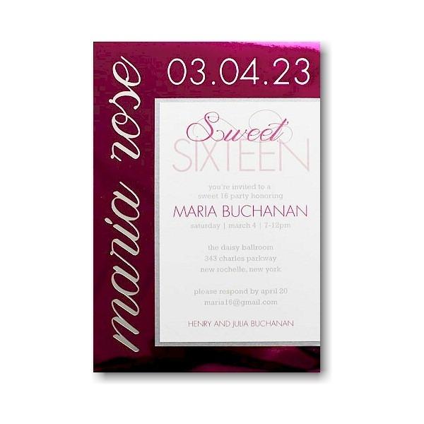 Magnolia Bat Mitzvah Invitation