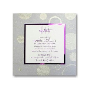Mod Circles Bat Mitzvah Invitation
