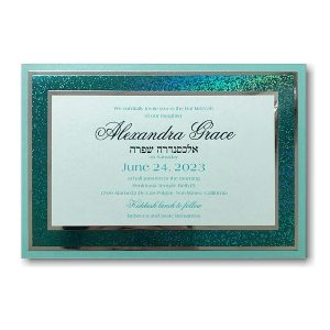 Truly Yours Bat Mitzvah Invitation Sample