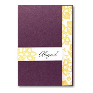 Elan with Aubergine Jacket Bat Mitzvah Invitation