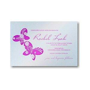 Flutter Bat Mitzvah Invitation